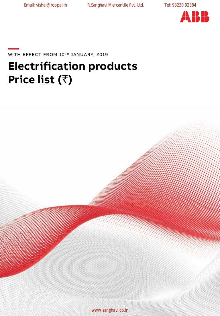 ABB Price List 2019