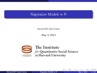 R Regression Models with Zelig