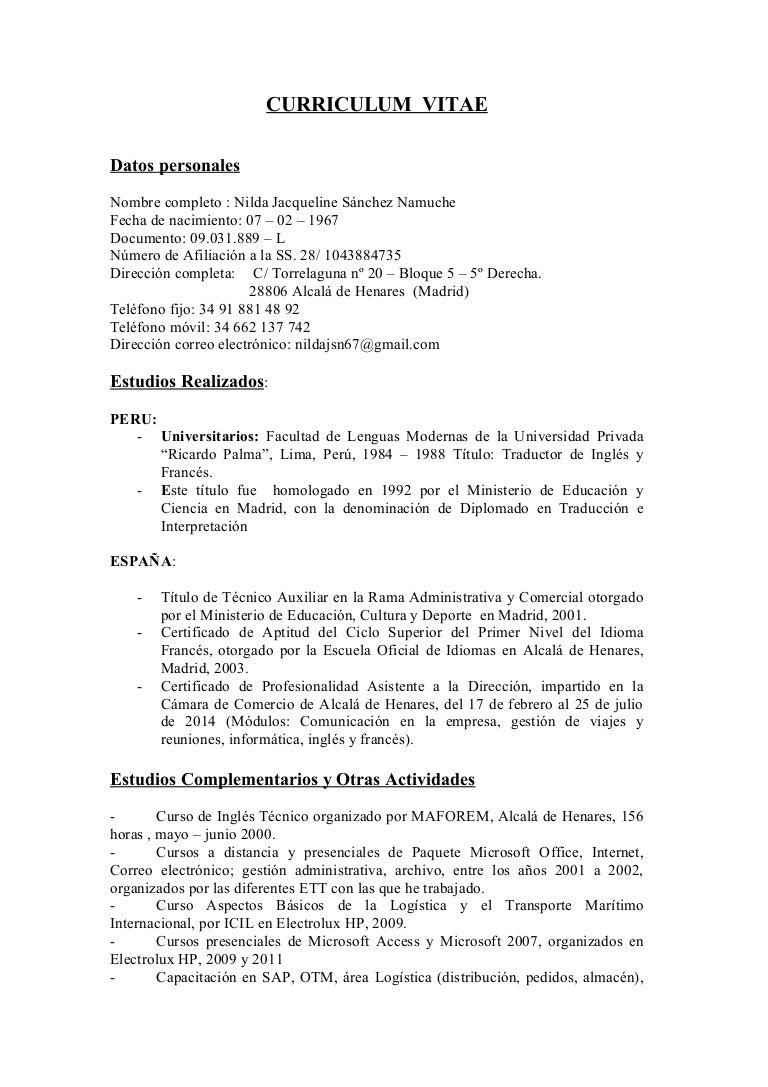 Résumé nilda2