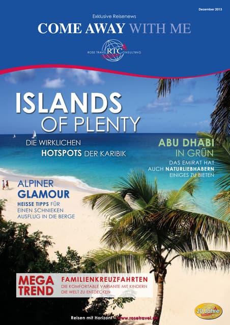 Reisenews – Rose Travel Consulting - Islands of Plenty