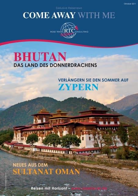 Reisenews – Rose Travel Consulting - Bhutan das Land des Donnerdrachens