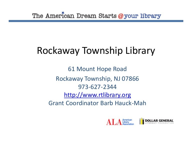 Esl Literacy American Dream Grant Results As of the 2010 united states census, the township's population was 24,156, reflecting an increase of 1,226. esl literacy american dream grant results
