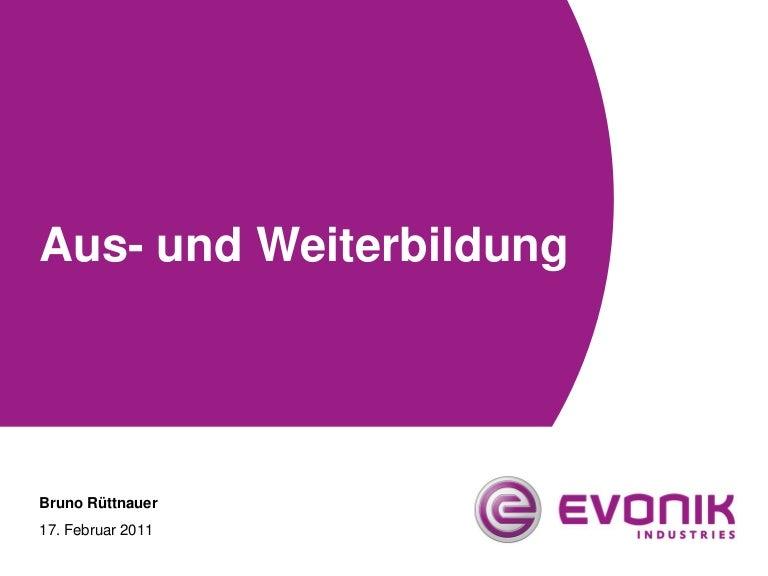 Rüttnauer: Ausbildung Werk Rheinfelden Evonik Degussa GmbH