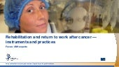 Rehabilitation and return to work after cancer — instruments and practices