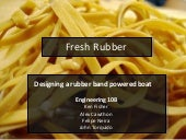 Rubber Band Boat Deck