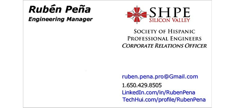 Rubn peas engineering manager and shpe silicon valley business reheart Images
