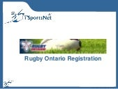 Rugby Ontario Registration 2010
