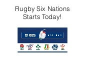 Rugby Six Nations Starts Tonight!