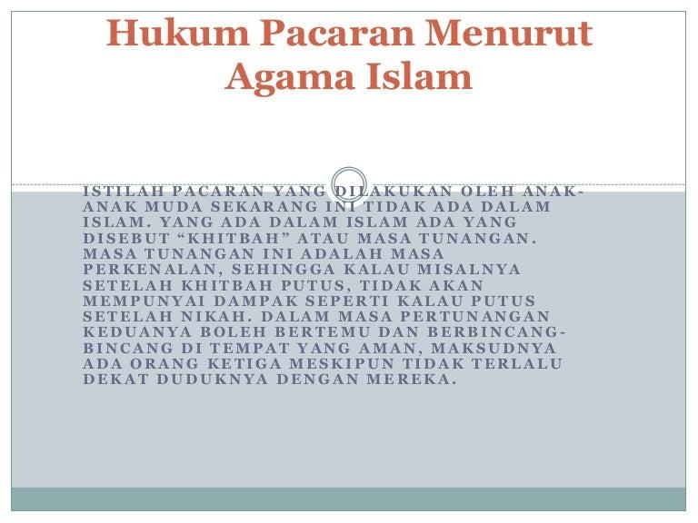 Hukum Pacaran Menurut Islam