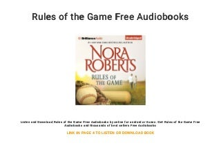 Rules of the Game Free Audiobooks
