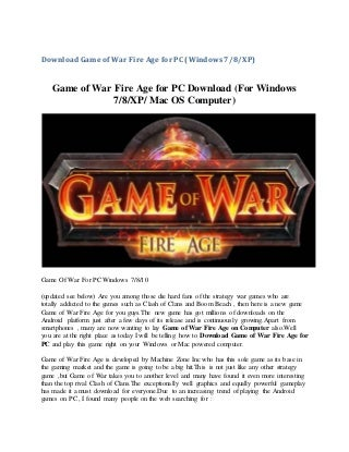 Runappsonpc Game of war for PC