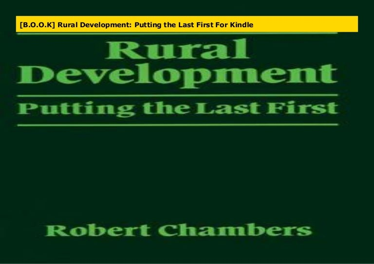 Putting the last first Rural Development