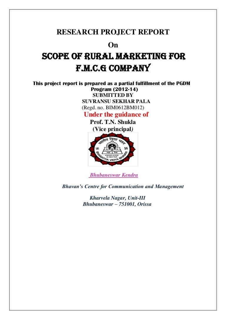 Rural Marketing On Fmcg Sector Pdf Fitting Pvc Rucika Co 2 Clean Out C O