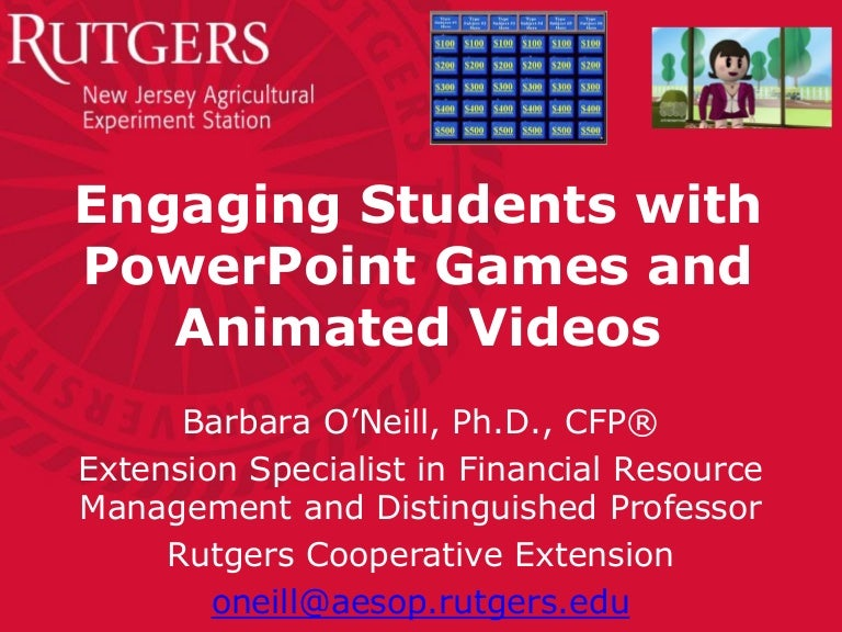 rutgers hybrid online conf-powerpoint games-animated videos-01-14, Modern powerpoint