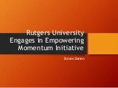 Rutgers University Engages in Empowering Momentum Initiative