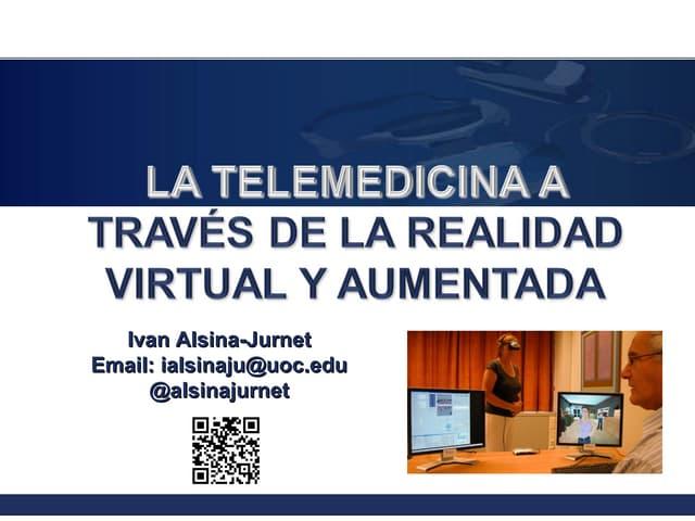 La telemedicina a través de la realidad virtual y aumentada