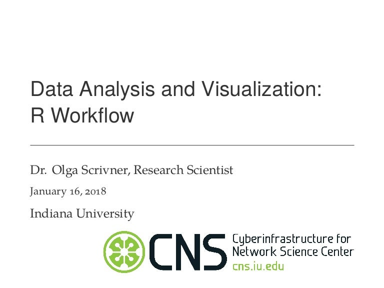 Data Analysis and Visualization: R Workflow