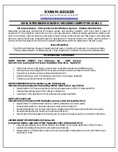 welding resume - Templates