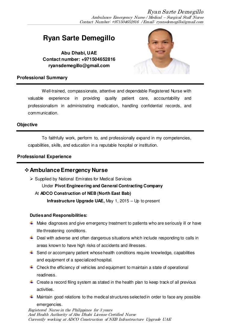 Sample Resume For Nurses In Uae. Resume. Ixiplay Free Resume Samples