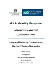 Integrated Marketing Communication Plan for Folli Follie