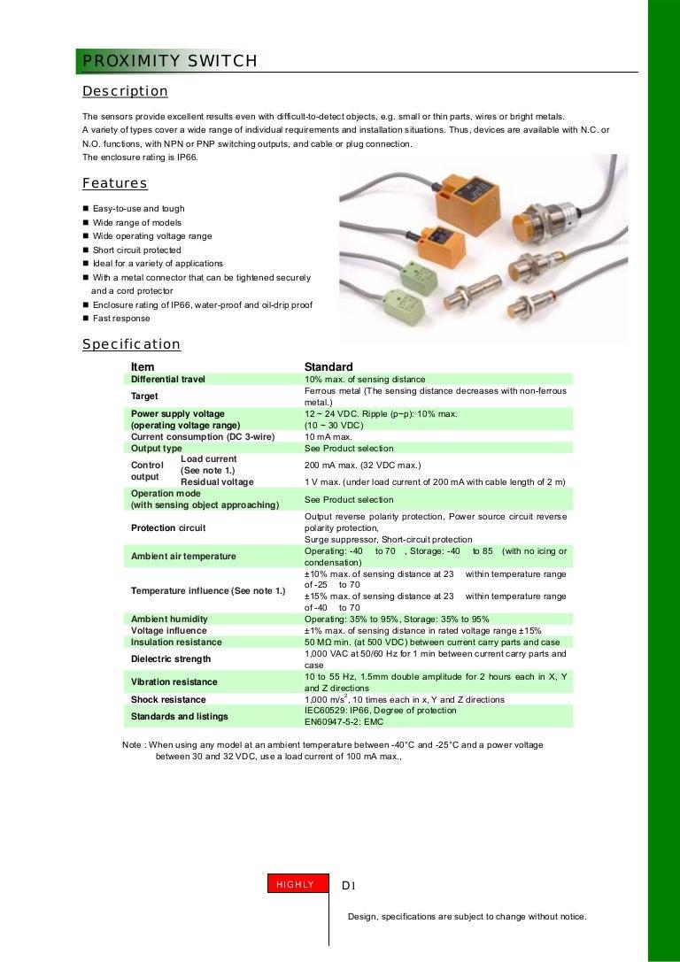 S Prox Proximity Switch Circuit