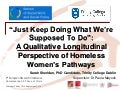 Women's Homeless Pathways: A Longitudinal Perspective