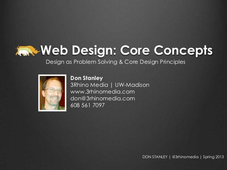 Web Design Core Concepts