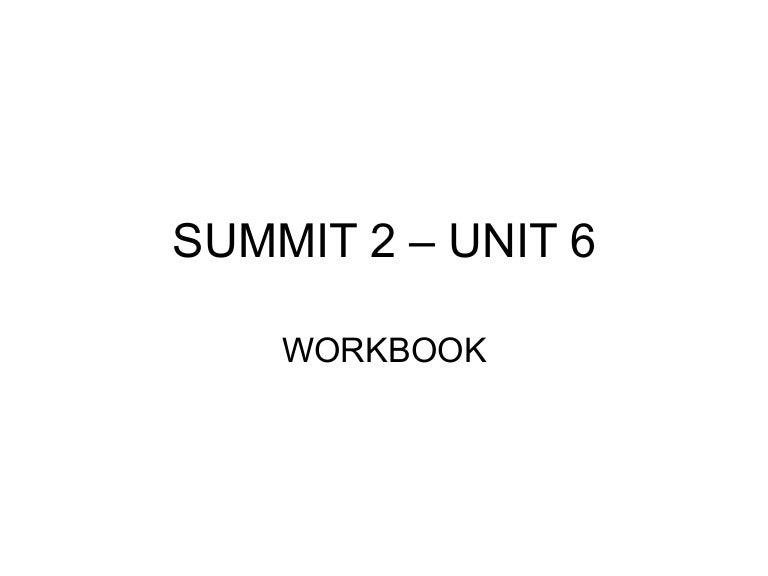 summit 1a workbook answer key unit 6