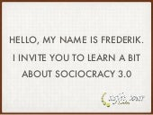 Sociocracy 3.0 introduction