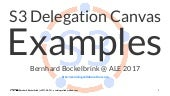 Agile Collaboration with the S3 Delegation Canvas (Examples) (Session@ ALE-2017)
