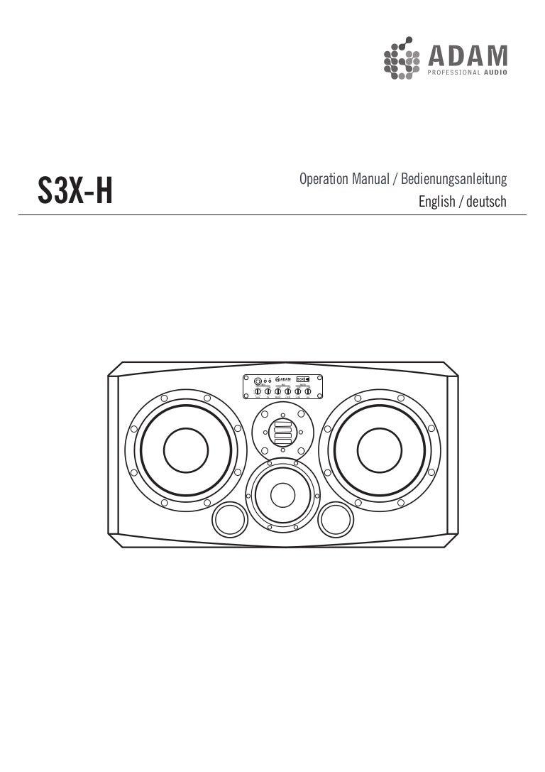 ADAM Audio S3X-H Orta Alan Aktif Monitör Kullanım Klavuzu