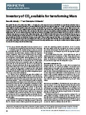 Inventory of CO2 available for terraforming Mars