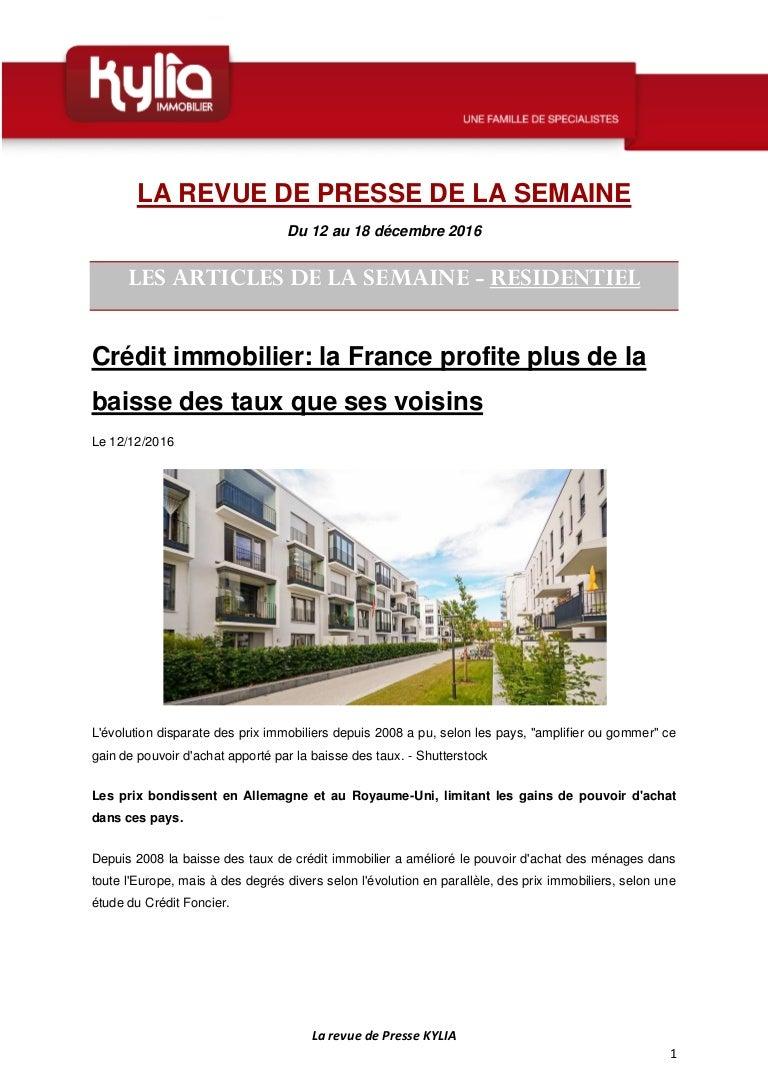 S51 Revue De Presse Kylia Semaine Du 12 Au 18 Decembre 2016