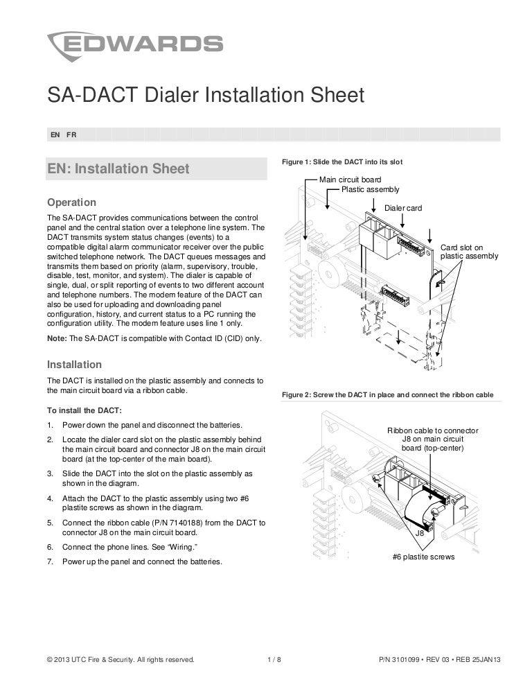 edwards signaling sa dact installation manual rh slideshare net Dact Gout Dact Phone