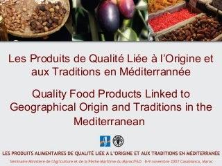 L'exemple du Maroc, L. Saad, Ministère de l'Agriculture et de la Pêche Maritime, Maroc(french)