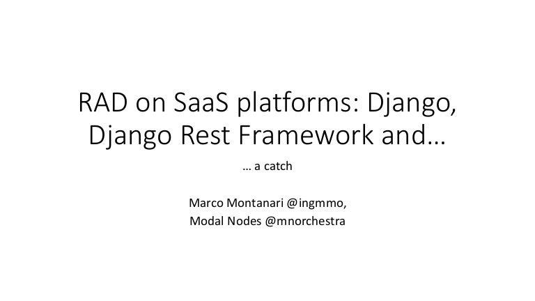 Saas rad with django, django rest framework