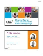 Saba 9 practical tips for using neuroscience to power learning design