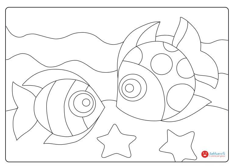 i pesci disegni da colorare sabbiarelli