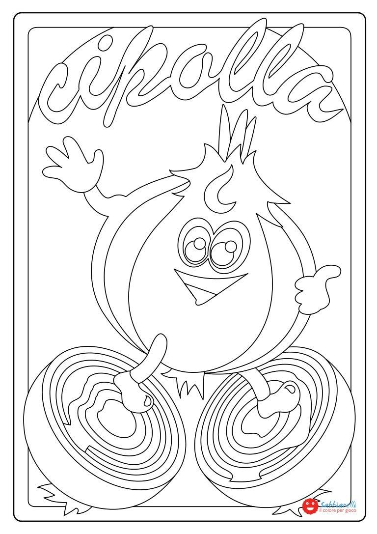La cipolla disegni da colorare sabbiarelli for Disegni inazuma eleven da stampare