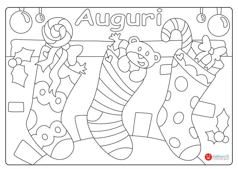le calze  disegni da colorare  sabbiarelli