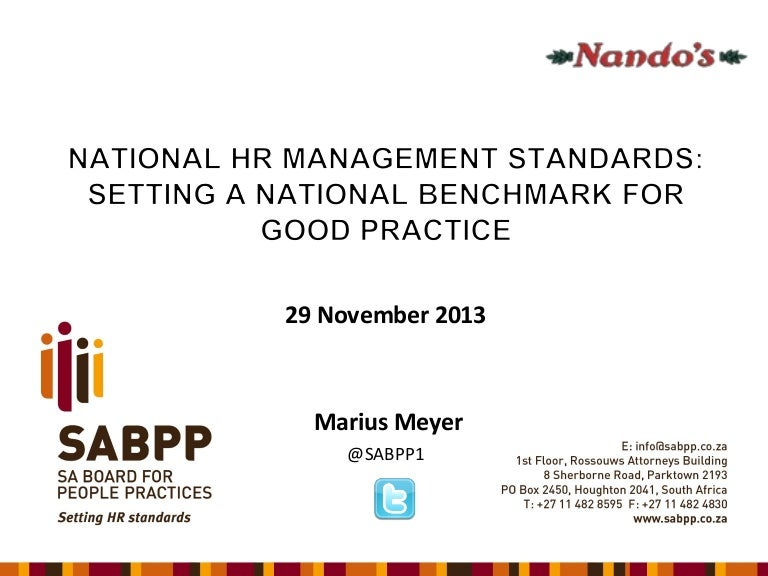 Sabpp Hr Standards Nandos