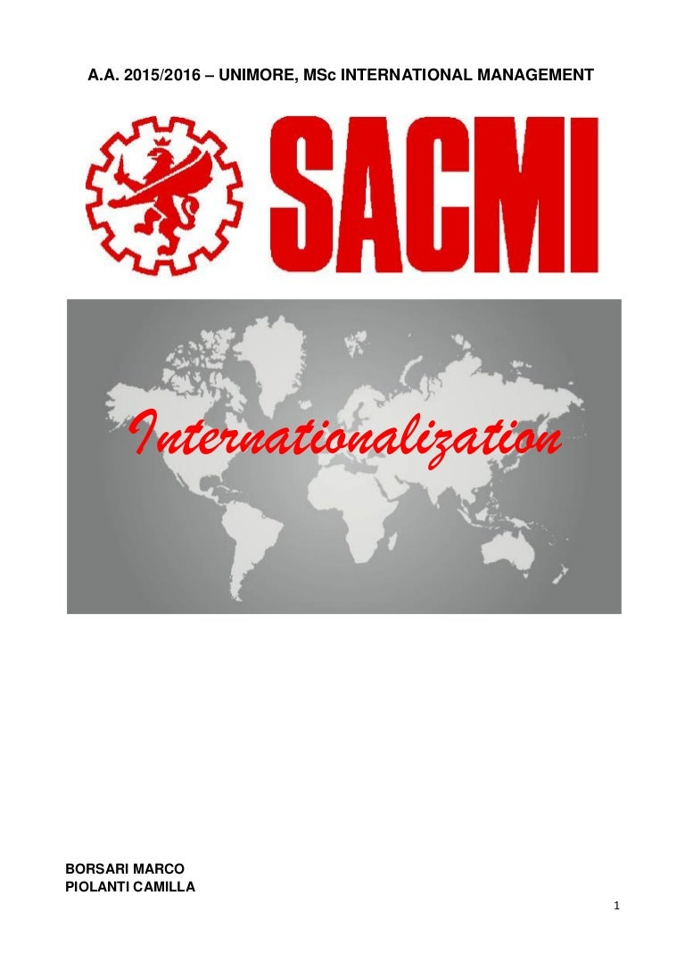 Sacmi - Internationalization