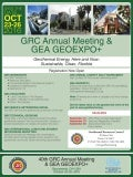 GRC Annual Meeting & GEA GEOEXPO+ - Flyer