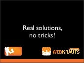Real solutions, no tricks