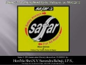 Safar 2 (Safety Always For All Riders) 3 D Animation Movie Released Dated  15 02 2010 At Hyderabad (A P)