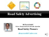 Road safety advertising