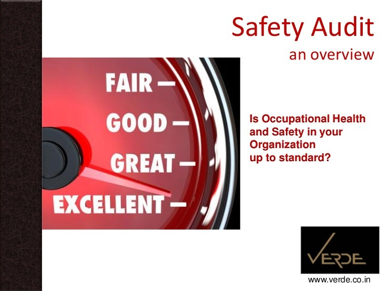 Safety Audit: An Overview