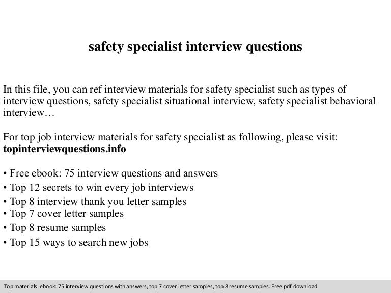 Demolition Specialist Cover Letter » Safety Specialist ...