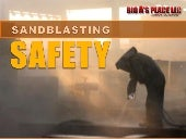 Safety while sandblasting