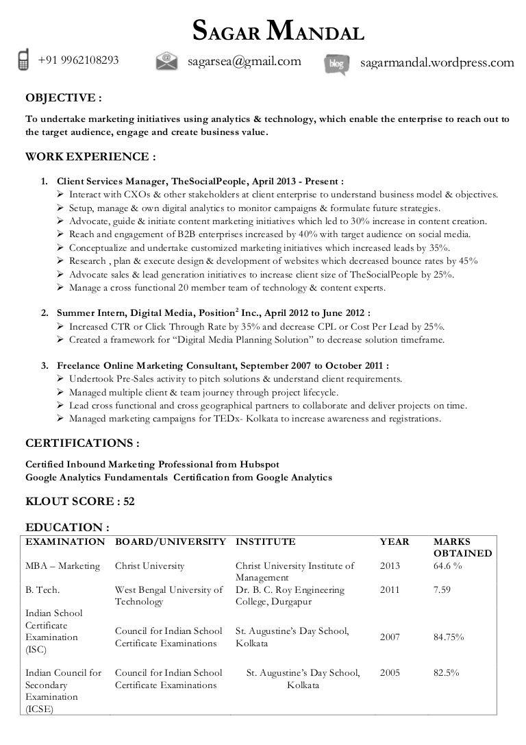 sagar mandal digital marketing digital technology updated resume